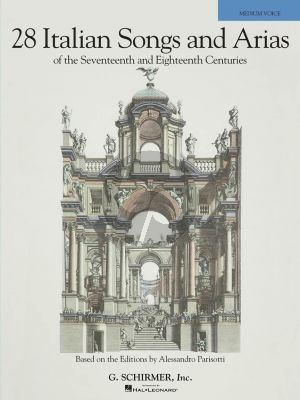 28 Italian Songs & Arias of the 17th & 18th Centuries Medium Book (based on the editions of Parisotti) (edited by Richard Walters)