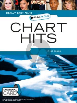 Really Easy Piano Playalong Chart Hits (Book with Audio Download Card)