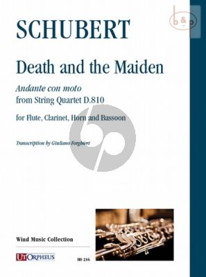 Death and the Maiden. Andante con moto from String Quartet D.810 (Fl.-Clar.[Bb]-Hrn[F]-Bsn)