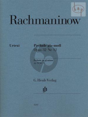 Prelude G-sharp minor Op.32 No.12 Piano (edited by Dominik Rahmer)