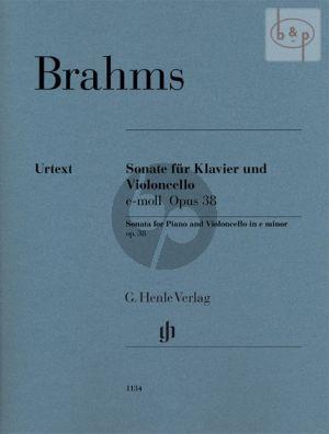 Sonate e-moll Op.38 (Violoncello-Piano)