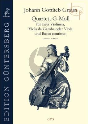 Quartet g-minor Graun WV Av:XIV:10 (2 Vi.- Viola da G.[Va.]-Bc)