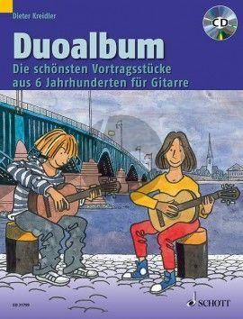 Duoalbum 2 Guitars (The best performance pieces from 6 centuries) (Bk-Cd) (edited by Dieter Kreidler)