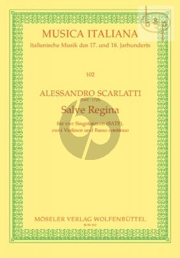 Salve Regina d-minor (SATB- 2 Vi.-Bc) (Score)