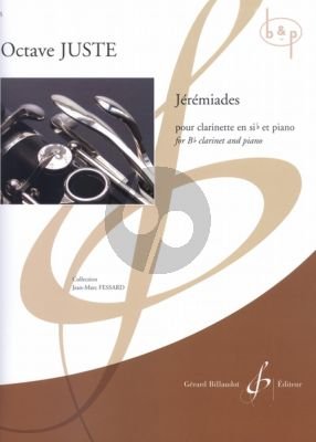 Jeremiades for Clarinet Bb and Piano