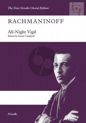 All-Night Vigil Op.37 (SATB) (Vocal Score)