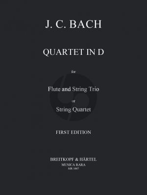 Bach Quartet D-major Flute with String Trio or String Quartet (Parts) (Stanley Sadie)