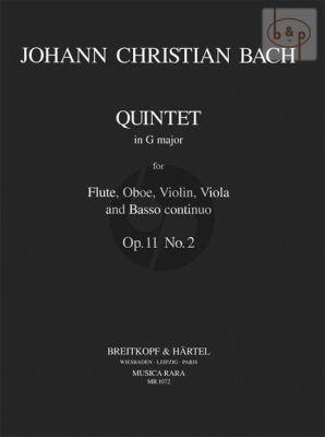Quintet G-major Op.11 No.2 Flute-Oboe-Violin- Viola-Bc