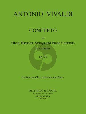Vivaldi Concerto G-major RV 545 (P.129) Oboe-Bassoon-Piano (Lasocki-Block)