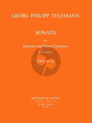Telemann Sonata f-minor TWV 41:f1 Bassoon-Bc (Ronald Tyree)