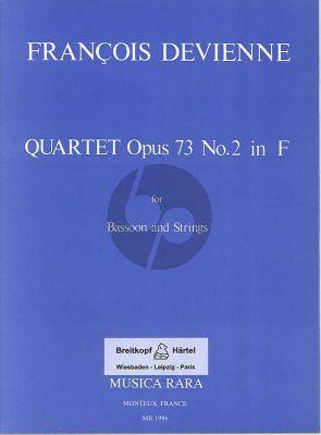 Devienne Quartet F-major Op.73 No.2 (Bassoon and Strings Score/Parts) (Voxman)