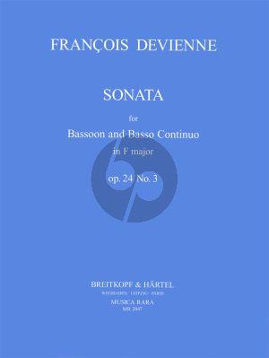 Devienne Sonata f-minor Op.24 No.3 Bassoon-Bc (Klaus Hubmann)