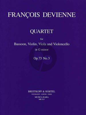 Devienne Quartet g-minor Op.73 No.3 (Bassoon and Strings Parts Only) (edited by John Paul Newhill)