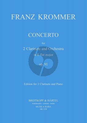 Krommer Concerto E-flat major Op.91 (2 Clar.-Piano) (Martin)