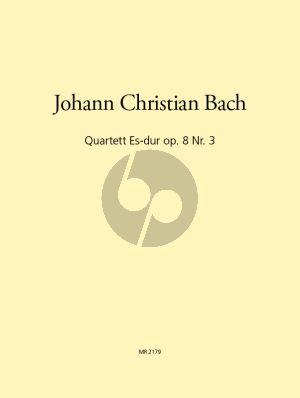 Bach Quartet E-flat Major Op.8 No.3 Flute[Oboe/Clarinet Bb]-Violin-Viola and Violoncello) (Parts) (Leisinger)