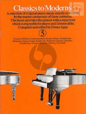 Classics to Moderns Vol.5
