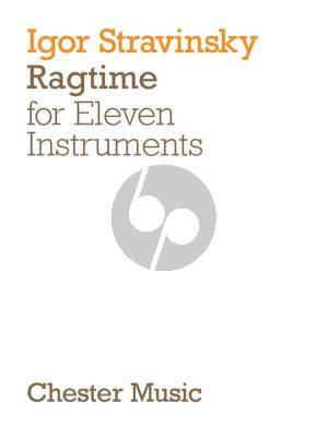 Strawinsky Ragtime (11 Instruments) (Study Score)