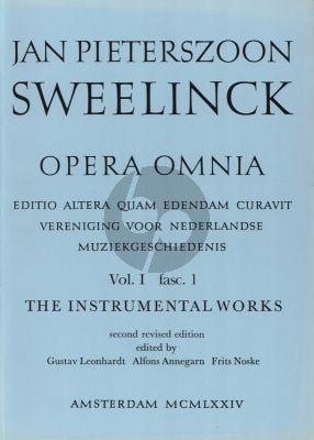 Sweelinck Instrumental Works Serie 1 Vol.1 Fantasias and toccatas (Gustav Leonhardt)