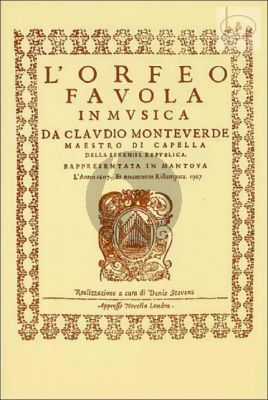 L'Orfeo (Soloists-Choir-Orch.) (Vocal Score)