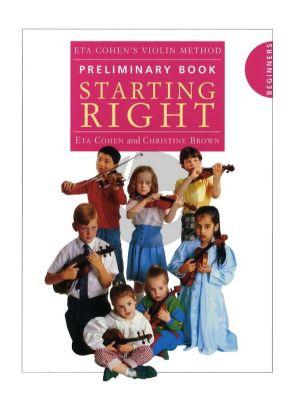 Cohen Violin Method Preliminary Book 'Starting Right' (Beginners)