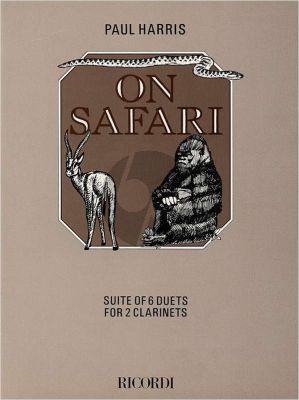 Harris On Safari (Suite of 6 Duets) 2 Clarinets
