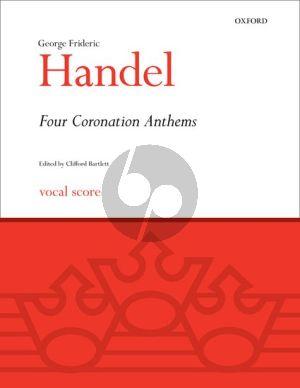 Handel 4 Coronation Anthems HWV 258 - 261 Vocal Score (edited by Clifford Bartlett)