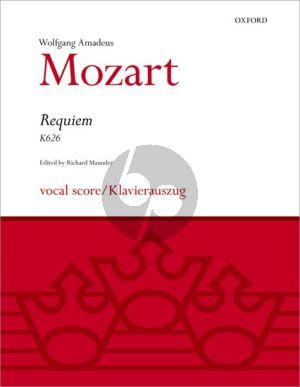 Mozart Requiem KV 626 (SATB[soli]-SATB[choir]-Orch.) (Vocal Score) (edited by Richard Maunder)