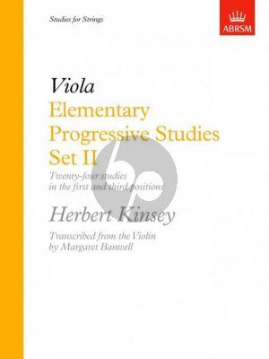 Kinsey Elementary Progressive Studies Set 2 viola (Margaret Banwell)
