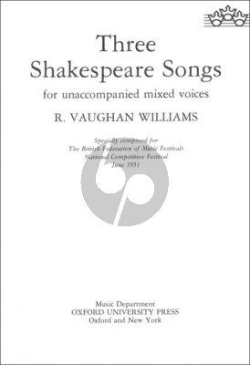 Vaughan Williams 3 Shakespeare Songs (SSAATTBB)