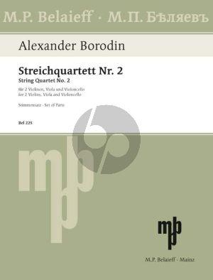 Borodin Quartet No.2 D-major 2 Vi.-Va.-Vc. (Parts) (Belaieff)