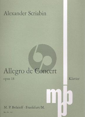 Scriabin Allegro de Concert b-moll Op. 18 Klavier (1896)