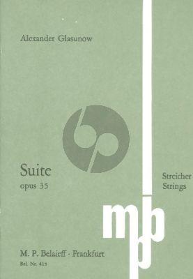 Suite C Dur Op.35 (1887/1891) Streichquartett Studienpartitur
