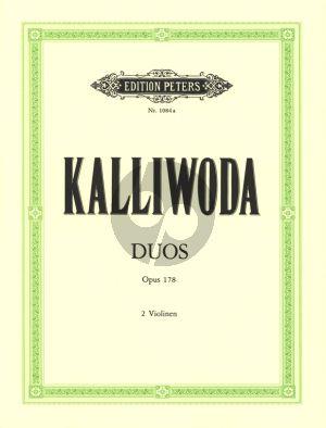 Kalliwoda 3 sehr leichte und Konzertante Duette Op.178 2 Violinen