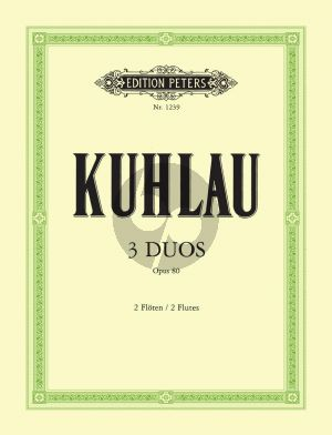 Kuhlau 3 Duette Op. 80 2 Flöten