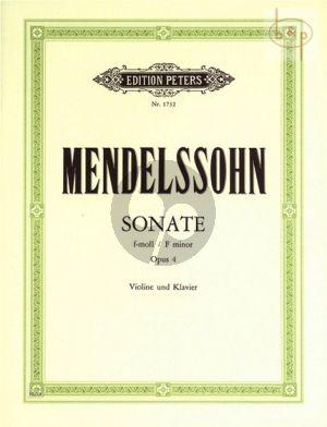 Sonate f-moll Op.4 Violine und Klavier