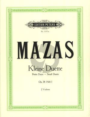 Mazas 12 Kleine Duette Op.38 Vol.1 fur 2 Violinen (Herrmann) (Peters)