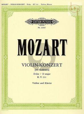 Concerto D-major KV 211 (Violin-Orch.) (piano red.) (Kuchler)