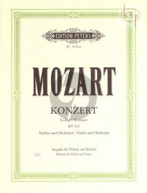 Concerto No.3 G-major KV 216 Violin-Orch. (piano red.)