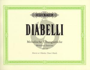 Diabelli Melodische Ubungsstucke Op.149 fur Klavier zu 4 Handen
