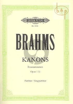 Kanons Op.113 (Frauenstimmen)