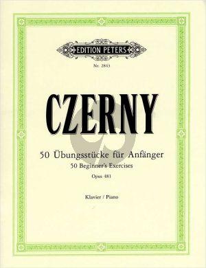 Czerny 50 Übungsstücke für Anfänger Op.481 Klavier