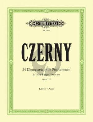 24 Ubungsstücke im Fünftonraum Op.777 Klavier