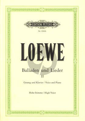 Loewe Balladen und Lieder Vol. 2 Hohe Stimme (Hans Joachim Moser)