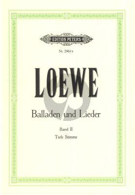 Loewe Balladen und Lieder Vol. 2 Tiefe Stimme (Hans Joachim Moser)