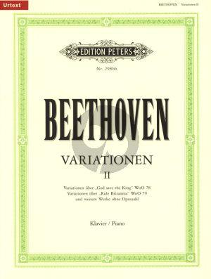Beethoven Variationen vol.2 Klavier (herausgegeben von Peter Hauschild und Gerhard Erber) (Urtext)