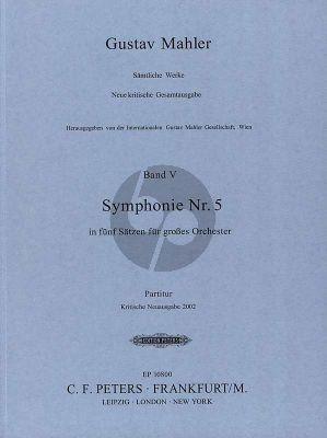 Mahler Symphony No.5 Orchestra Full Score (Reinhold Kubik) (Critical edition of 2002)