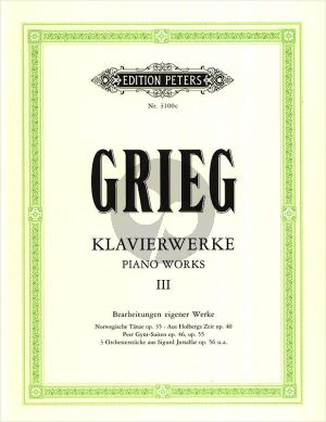 Grieg Klavierwerke Vol.3 Bearbeitungen eigener Werke