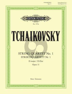Tchaikovsky String Quartet D-major Op.11 2 Violins Viola and Violoncello (Parts) (edited by Arno Hilf) (Peters)
