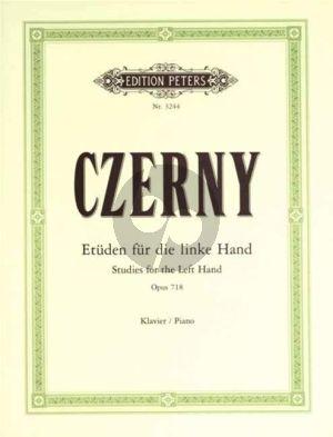 Czerny Etuden fur die linke Hand Op.718 Klavier Adolf Ruthardt