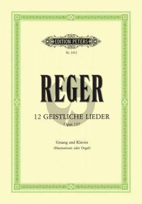 Reger 12 Geistliche Lieder opus 137 (Medium-High)